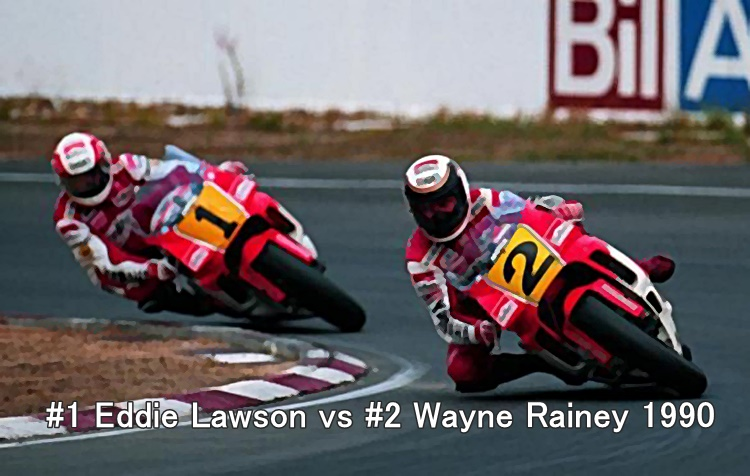 #1 Eddie Lawson vs #2 Wayne Rainey 1990