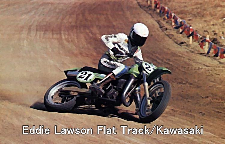 Eddie Lawson Flat Track Kawasaki
