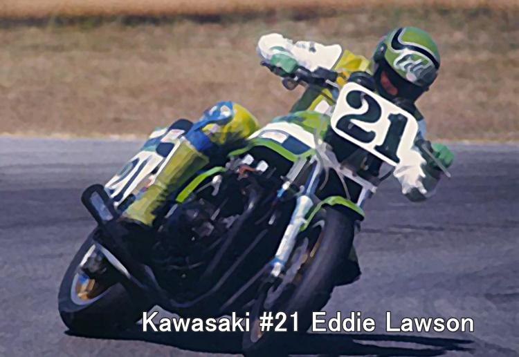 Kawasaki #21 Eddie Lawson
