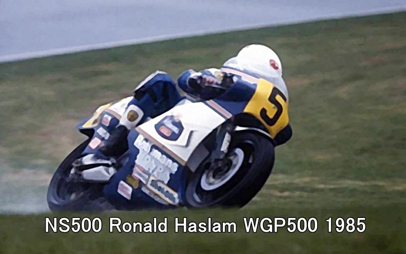 NS500 Ronald Haslam WGP500 1985 1