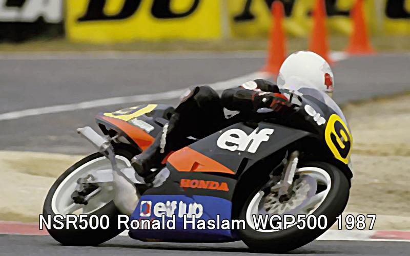 NSR500 Ronald Haslam WGP500 1987 1
