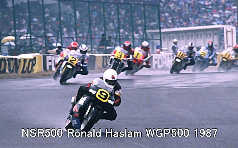 NSR500 Ronald Haslam WGP500 1987