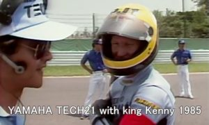 YAMAHA TECH21 with king Kenny 1985