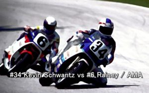 #34 Kevin Schwantz vs #6 Rainey AMA 1987