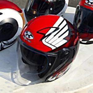 hikaru miyagi honda wing red kabuto helmet