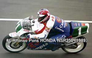 #1 Alfonso Pons HONDA NSR250 (1989)