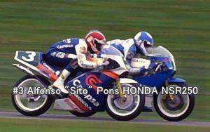 #3 Alfonso Sito Pons HONDA NSR250