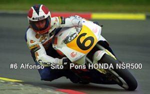 #6 Alfonso Pons HONDA NSR500