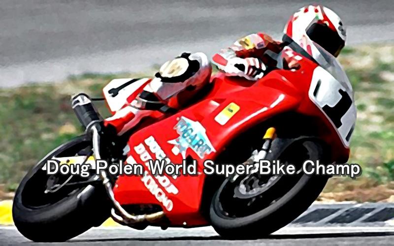 Doug Polen World Super Bike Champ 2