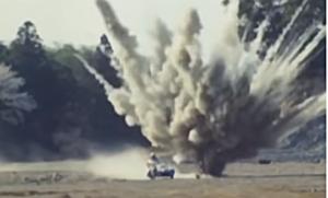 ダブルマシンは地雷の爆発よりも速い